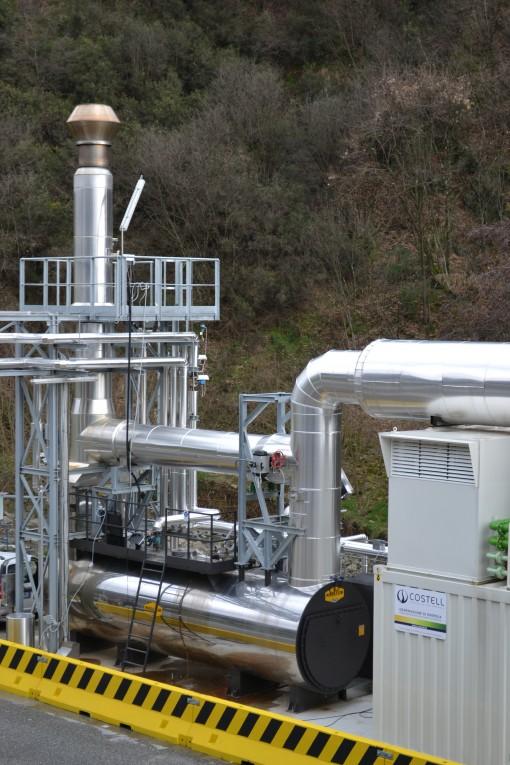 Particolare dell'impianto di cogenerazione di Costell installato presso la Cartiera S. Rocco.