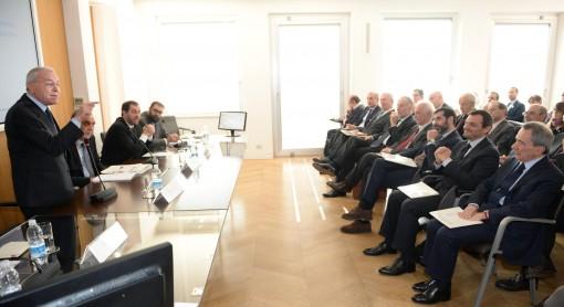 Nella foto il presidente dell'Associazione Civita Gianni Letta. Crediti Ansa/Maurizio Brambatti.