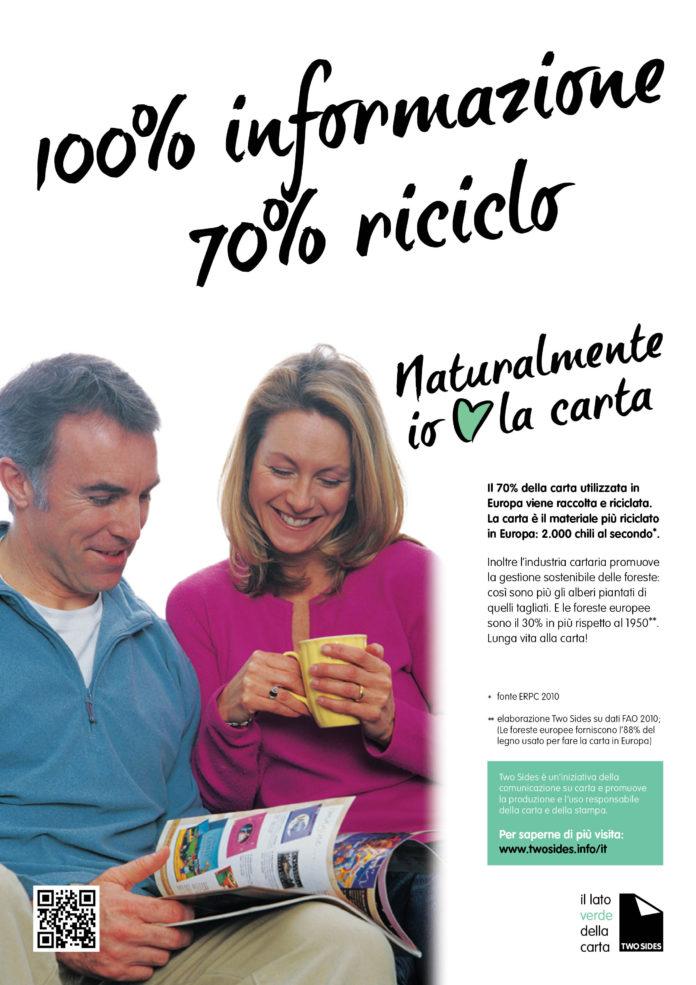 È partita lo scorso 31 luglio la nuova campagna «Naturalmente Io Amo La Carta» con nuovi soggetti realizzati da TwoSides Europe, adattati nella versione italiana da TwoSides – Il lato verde della carta.