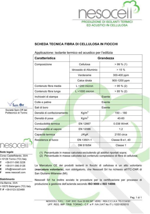 03 2 SchedaTecnicaFibraCellulosaNesocell